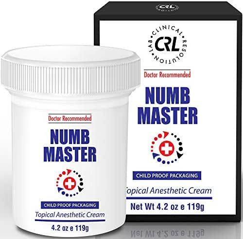 Numb Master 5% Lidocaine Topical Numbing Cream for Pain Relief, 4.2oz Max Strength Fast Acting Non Oily Local Anesthetic, Made in USA