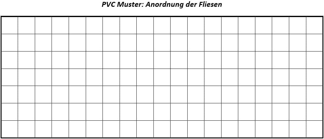 Fliesenoptik Schachbrett 200 verschiedene Gr/ö/ßen Meterware 300 und 400 cm Breite Gr/ö/ße: 3,5 x 3 m PVC Bodenbelag Steinoptik