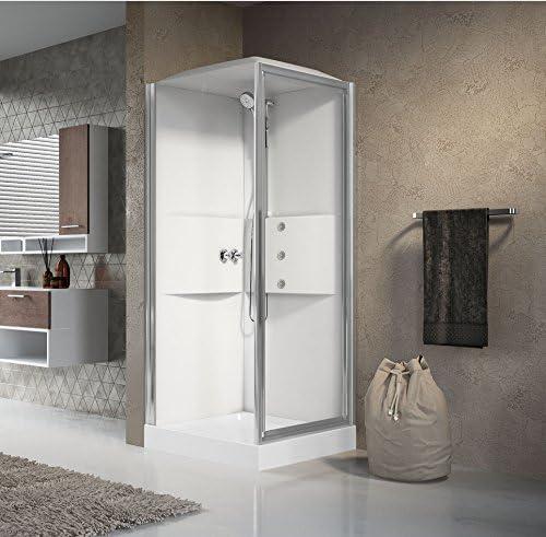 Mampara de ducha cuadrada de cabina de ducha multifunción acceso ...