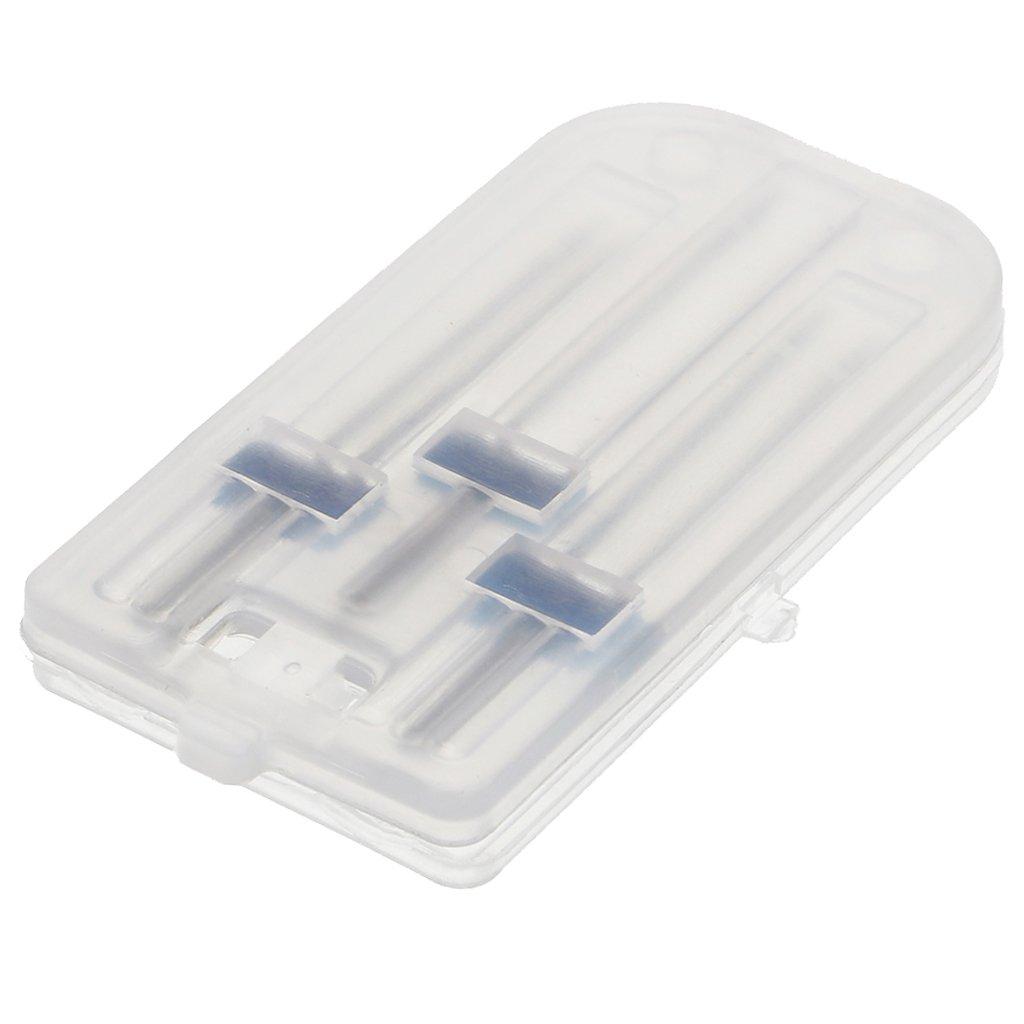 3 Piezas Punzones Doble Gemelas Accesorios de M/áquina de Coser con Caja Pl/ástica