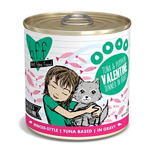 Best Feline Friend (B.F.F.) Grain-Free Cat Food by Weruva, Tuna & Pumpkin Valentine, 10-Ounce Can (Pack of 12)]()