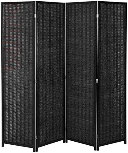 Ballino - Panel separador de ambientes hecho a mano de mimbre (3/4/5/6 paneles): Amazon.es: Hogar