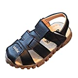 Huhua Sandals For Girls, Summer Toddler Kids Baby Girs Sandals Mesh Loafer PU Leather Buckle Pricness Single Shoes For Girls 1 Years Old
