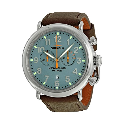 Shinola Detroit Men's The Runwell Chrono 47mm - 10000167 Slate Blue/Deep Brown Watch