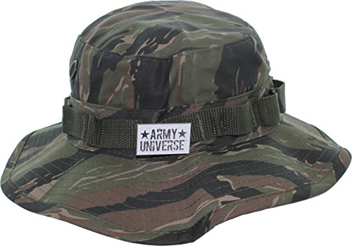 Army Universe Tiger Stripe Camouflage Tactical Boonie Bucket Hat Pin - Size X-Large 7 ¾