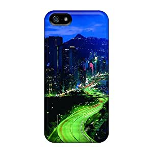 Ultra Slim Fit Hard DaMMeke Case Cover Specially Made For Iphone 5/5s- City Night