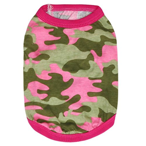 Axchongery Dog Shirt, Summer Small Pet Woodland Camouflage V