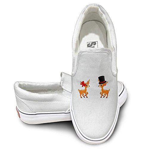 [CAPA Unisex Slip-on Shoes Deers Dance Flat Canvas Sneaker 35 White] (Plants Vs Zombies Football Zombie Costume)