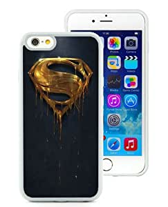 Hot Sale iPhone 6/iPhone 6S 4.7 Inch TPU Case ,Gold Superman Logo White iPhone 6/iPhone 6S Cover Unique And High Quality Designed Phone Case