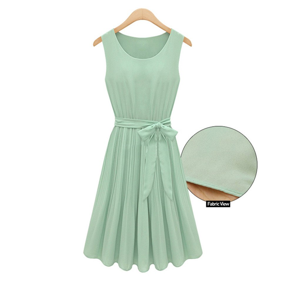 Big Girls Dresses 7-16 Special Occasion Easter Dress Chiffon Pleated Dresses Size 14 16 (14, Light Green)