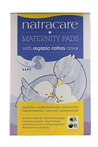 Natracare Natural Maternity Pads - 10 Pads - New Mother Natural Maternity Pads