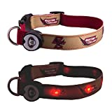 Dog-E-Glow Boston College Eagles Lighted LED Dog Collar, Medium, 10-Inch by 15-Inch