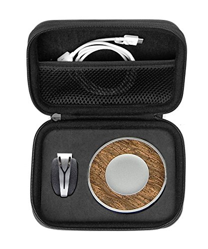 WGear Feature Designed Semi-Hard Case for Spire Mindfulness and Activity Tracker with Customized Inlay and mesh Pocket Ballistic Black