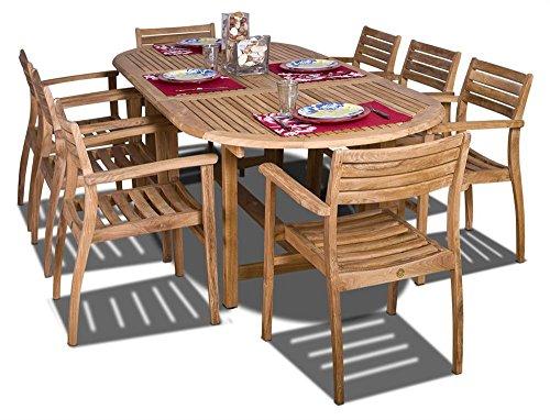 Amazonia Teak Coventry 9-Piece Teak Oval Dining Set ()