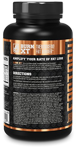 BURN XT Thermogenic Fat Burner Weight Loss Supplement, Appetite Suppressant, Energy Booster Premium Fat Burning Acetyl L Carnitine, Green Tea Extract, More 60 Natural Veggie Diet Pills