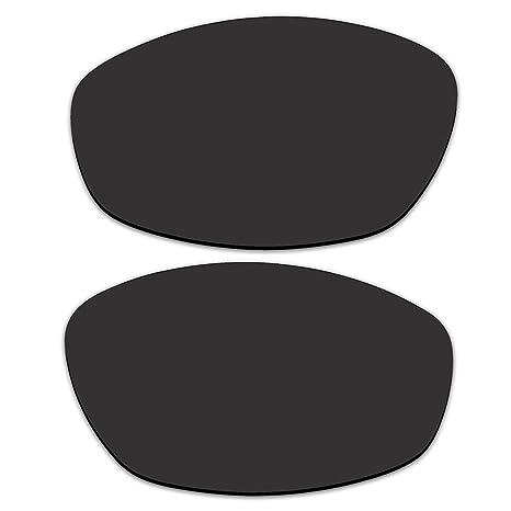 2fcab18022a Amazon.com  ACOMPATIBLE Replacement Black Polarized Lenses Oakley Whisker  Sunglasses  Sports   Outdoors