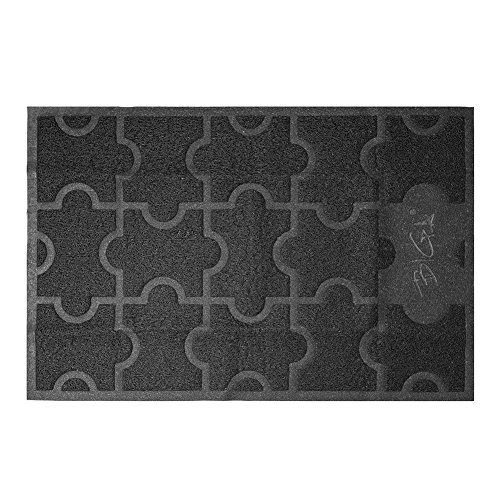 - BIGA Large Front Door Mat Rubber Shoe Rugs Welcome Entrance Waterproof Anti Slip Carpet for Outside Inside Patio Entry Way High Traffic Areas
