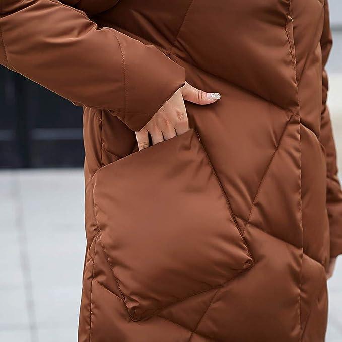 Amazon.com: Nadition Womens Coat 2018 New Outerwear Loose Button Coat Long Cotton-Padded Jackets Pocket Coats: Clothing