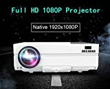 Deeirao 1080P Full HD 1920x1080 Native Resolution Home Theater Projector LED Light HDMI