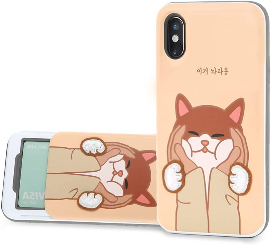 Design Skin iPhone Xs Max Case, [Slider] Extreme Heavy Duty Triple Layer Bumper Protection of Sliding Wallet Card Holder Cover for Apple iPhone Xs Max - Leave Me Alone