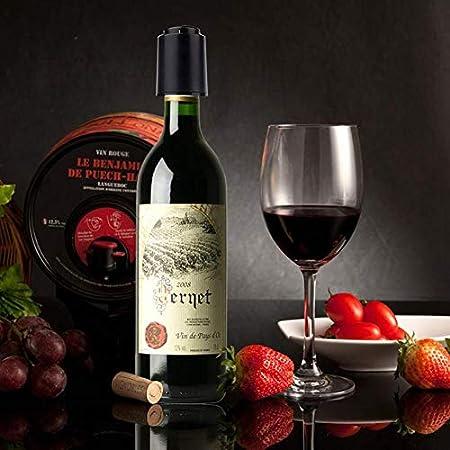 CVOZO 2 tapones de vacío para vino, tapones de vacío para champán reutilizables con marcador de fecha, el mejor regalo para los amantes del vino