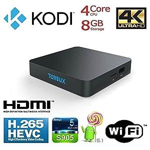 Tonbux® KODI TV Box TV Android 5,1 T11 Android TV Box 1GB+8GB Amlogic S905...