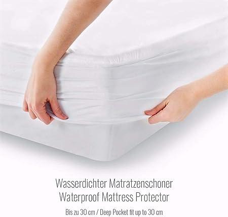 Protector de Colchón Impermeable Melunda | 180 x 200 cm | Capa ...