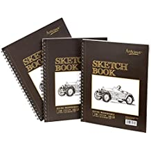 Artlicious - 3 Sketch Pads 9 in. x 12 in for Drawing, Coloring & Doodling (3 Drawing Pads)