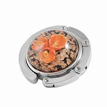 Fleur D Orchidee Orange En Forme De Dome Rond Sac Pliable Hanger