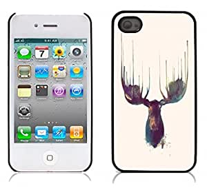 Moose Hard Plastic and Aluminum Back Case for Apple iphone 4 4S