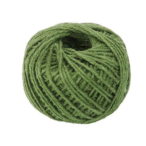 Flameer 50M Wrap Gift Jute Rope Ribbon Twine Rope Cord String Ball - Army - Ball Wrap Gift
