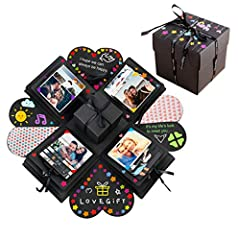 """YillsenDIY explosionbox is a special way to say """"I love you"""".So you can DIY a magic special photo album to your love families or to boyfriend/girlfriend. even record your baby's growth,anniversary valentine wedding and proposal photo album ..."""