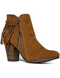 GAIL-26 Stylish Fringe Ankle Boot
