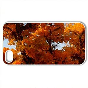 ROAD SIDE TREES - Case Cover for iPhone 4 and 4s (Forests Series, Watercolor style, White)
