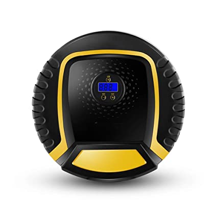 Compresor De Aire, Inflador Digital Portátil Con Pantalla Digital Y Bombillas LED Para Vehículos,