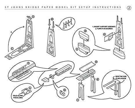 Amazon.com: paperlandmarks St Johns Puente Paper Modelo Kit ...