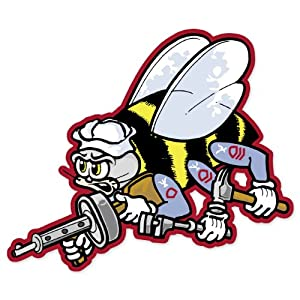 """US Navy Seabees car bumper sticker window decal 5"""" x 4"""" by Ride in Style"""