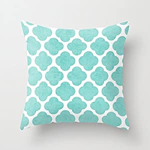Teal Throw Pillow Covers Decorative Accent Pillows Case 18 X 18 For Living  Room Sofa Decor