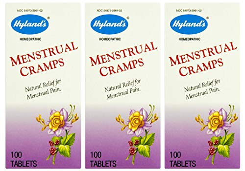(Hyland's Homeopathic Menstrual Cramp Tablets, Natural Relief for Menstrual Pain, Cramps, and Irritability, 100 Count (Pack of 3) )