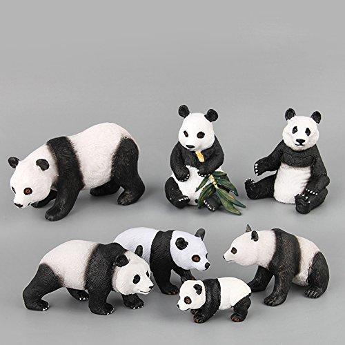 Rabugoo シック かわいい 置物 中国野生動物 パンダ 置物 高いシミュレーション パンダ モデル コレクション おもちゃ コンパクト ポータブル 置物 おもちゃ 子供 誕生日 クリスマス プレゼント 7個/セット