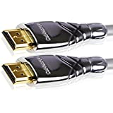 Cablesson Maestro 1.5m High Speed HDMI Cable - 8k, 4, 3D, Full HD, Ultra HD, 2160p, HDR, ARC, Ethernet - (HDMI 2.1/2.0b/2.0a/2.0/1.4) For PS4, Xbox One, Wii, Sky Q, LCD, LED, UHD, CL3 certified - Grey