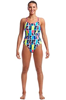GIRLS ONE PIECE SWIMWEAR FUNKITA FUNKITA TWISTER GIRLS DIAMOND BACK ONE PIECE