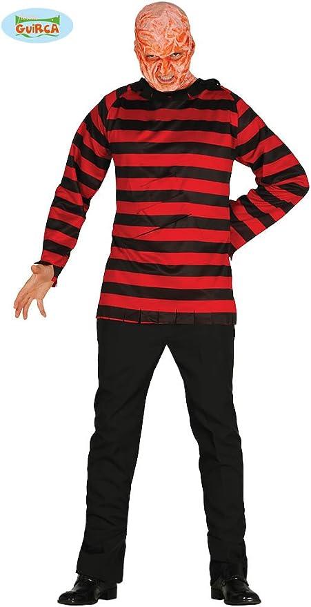 FIESTAS GUIRCA Jersey Freddy Krueger Disfraz de Terror: Amazon.es ...