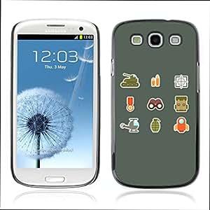 Carcasa Funda Case // V0000583 Army Flat Icons// Samsung Galaxy S3 i9300