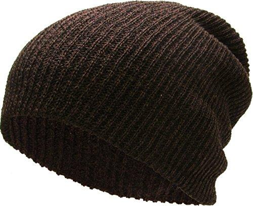 KBW-10 BRN Slouchy Beanie Baggy Style Skull Cap Winter Unisex Ski Hat