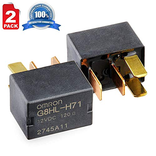 AC Relay Micro Iso 4 Pin 12V G8HL-H71 for Honda Accord Civic Crosstour CR-V CR-Z Element Insight Odyssey Acura TL TSX MDX 39794-SDA-A03 39794-SDA-A05 RY1224-2 Pack