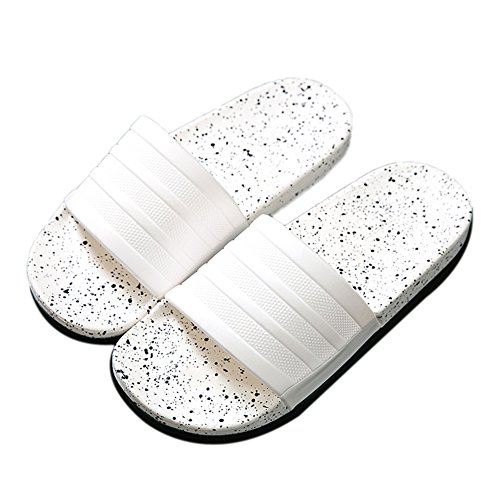 TELLW Bathroom Slippers for Male Female Summer Home Indoor Anti-Slip Thick Bottom Cool Slippers White bLnsljgd8