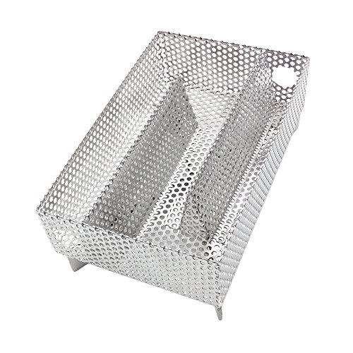 TIZZE Pellet Smoker Box Stainless Steel Cold Smoke Generator for BBQ Wood Chips on Charcoal, Electric, Gas&Propane Grills
