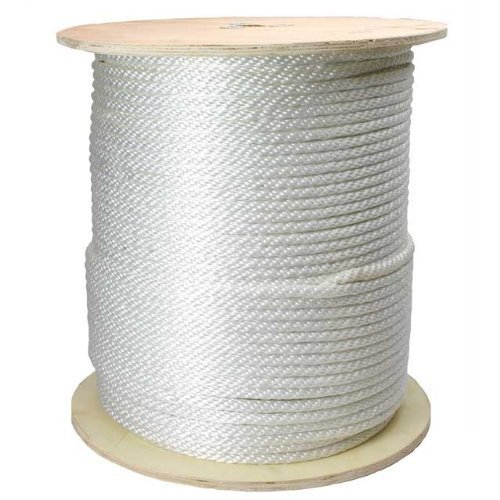SGT KNOTS Solid Braid Nylon Rope 1/8'', 5/32'', 3/16'', 1/4'', 5/16'', 3/8'' (3/8'' x 500' - White) by SGT Knots