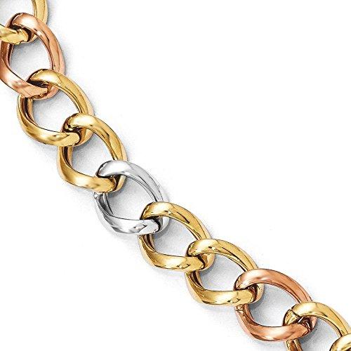"Tri-color poli 14 carats-Bracelet-JewelryWeb 8 """